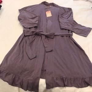 Brand New Blis Robe Dark Lavender NWT Medium
